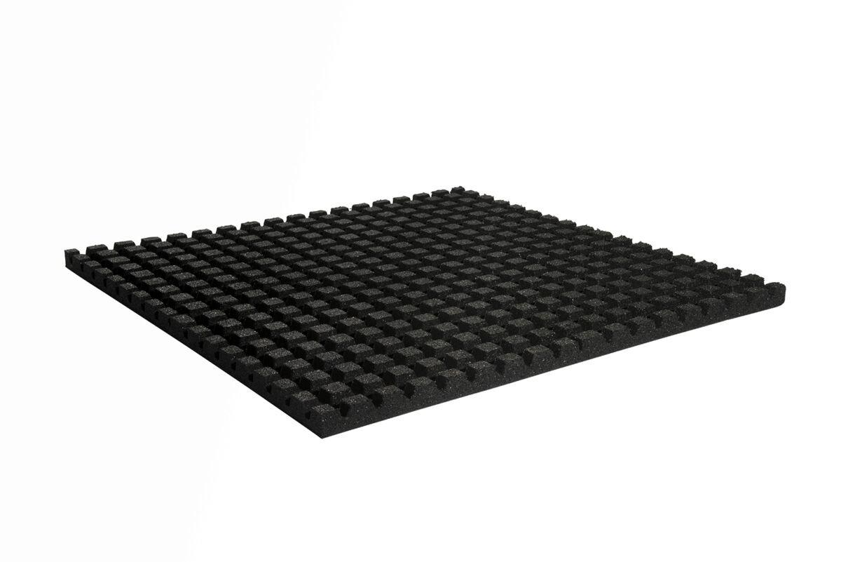 Granuflex Crossfit Gummiflise 1000 x 1000 x 43 mm Black