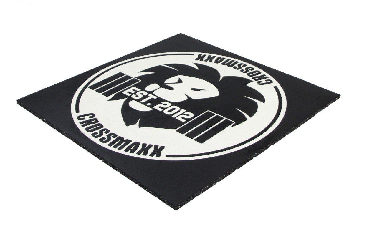 Crossmaxx Premium Gummiflise Med Logo 100 x 100 x 2 cm