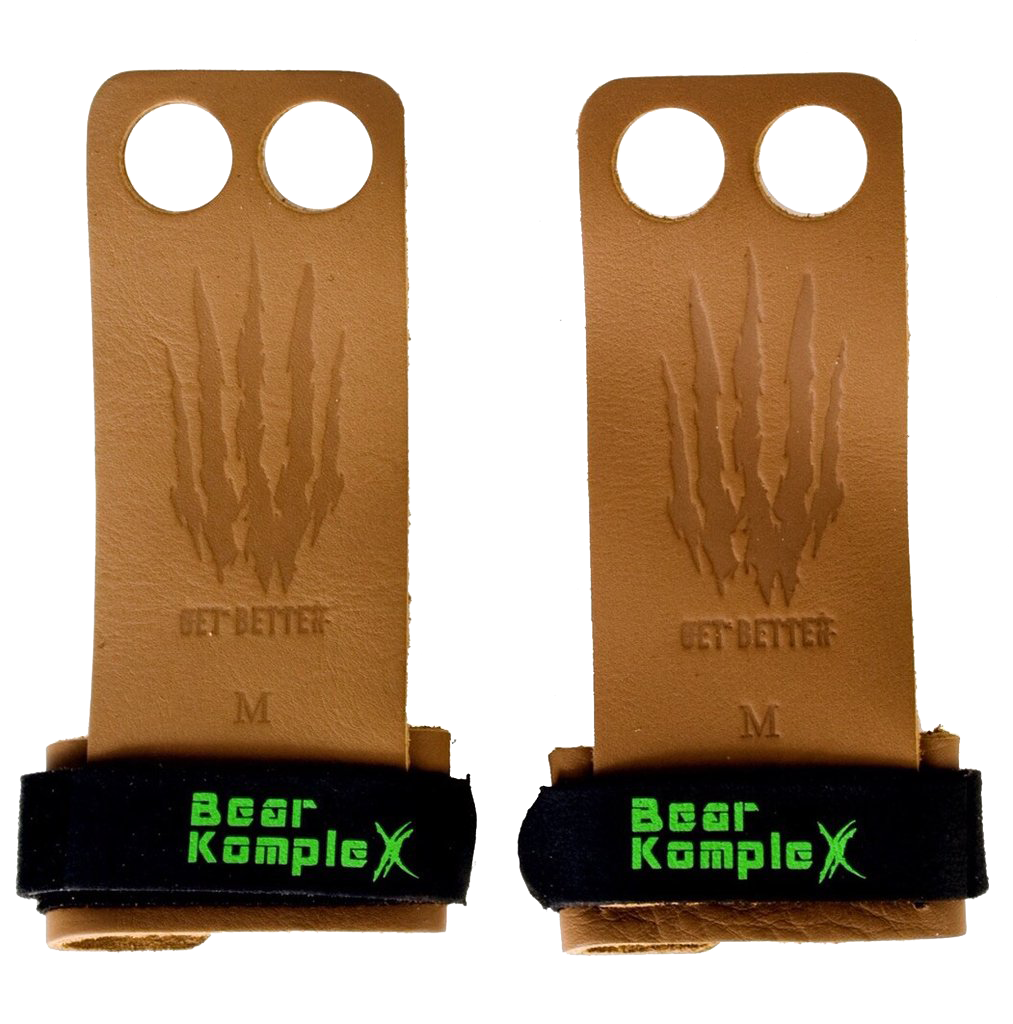 Bear KompleX Læder Grips Tan - 2 Hole