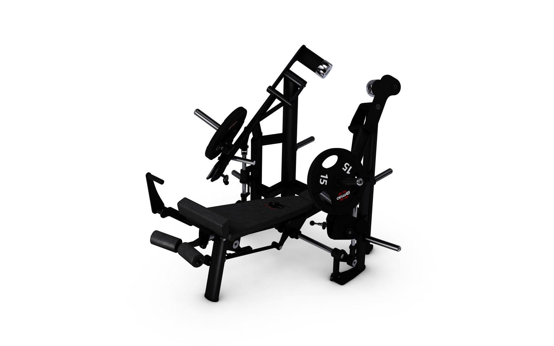 gym80 Pure Kraft Strong Decline Chest Press Dual