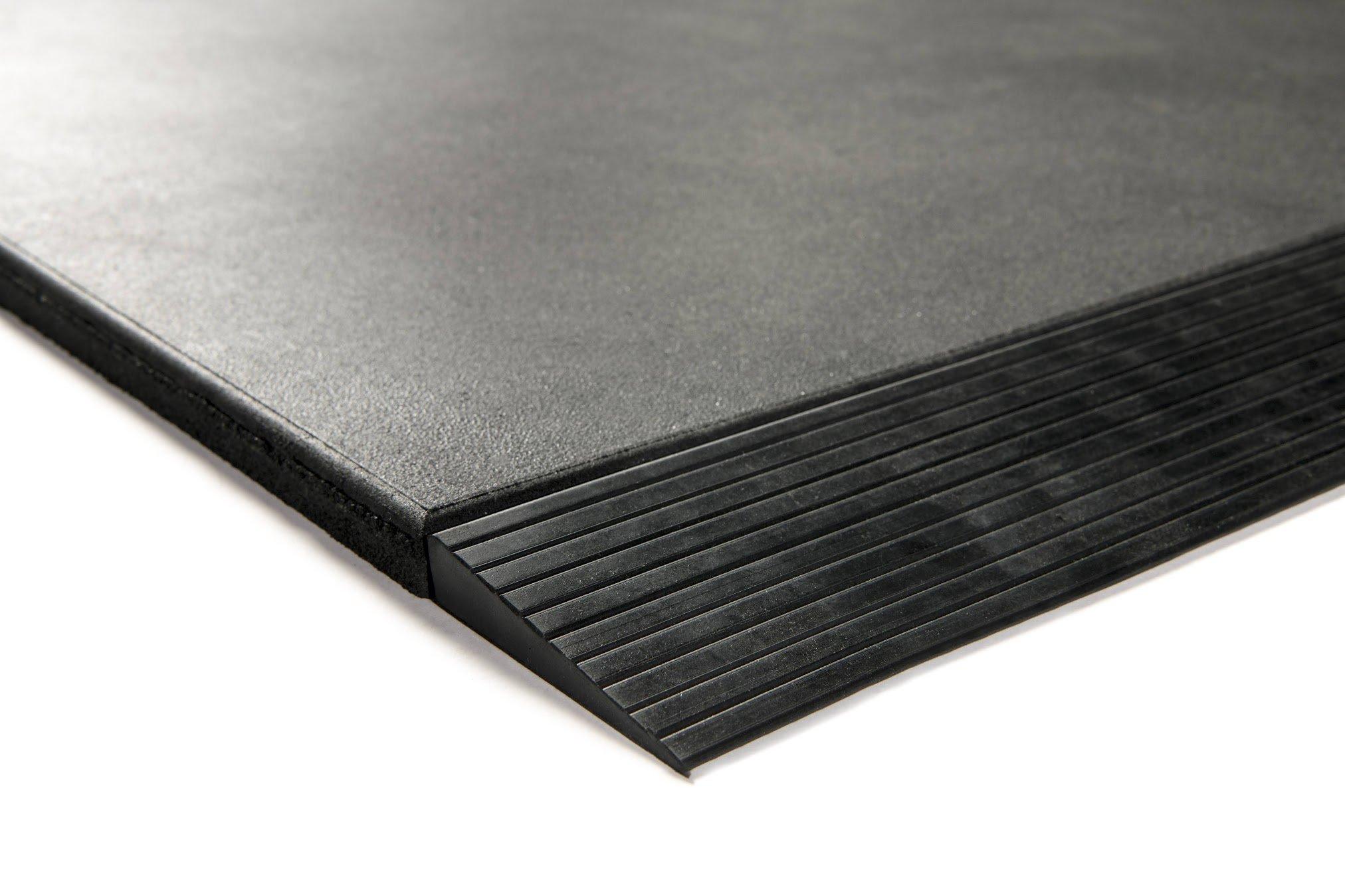 Granuflex Rampe Til Gummiflise 1000 x 100 x 20 mm Black