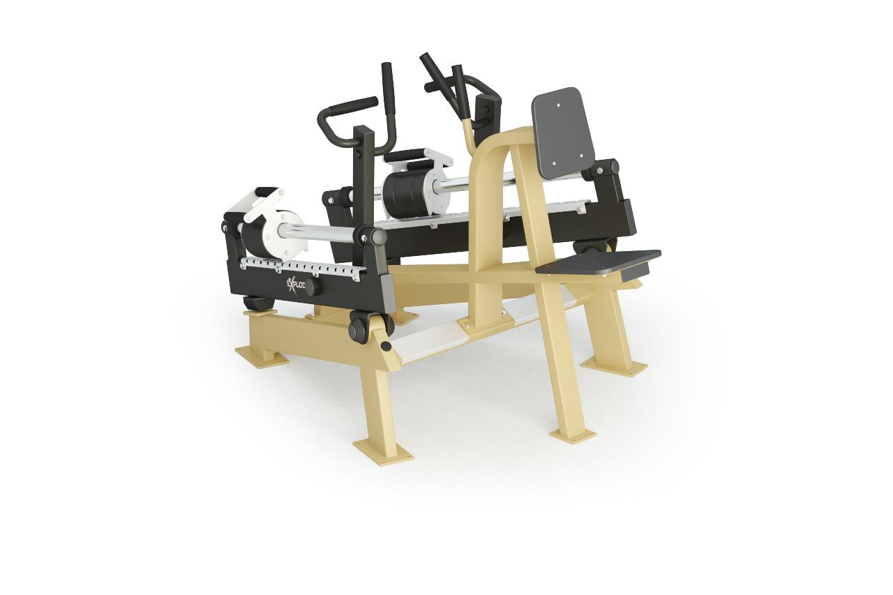 Inter Atletika Rowing Machine Galvanized