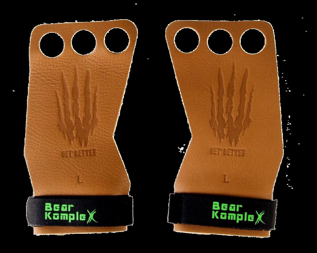 Bear KompleX Læder Grips Tan - 3 Hole