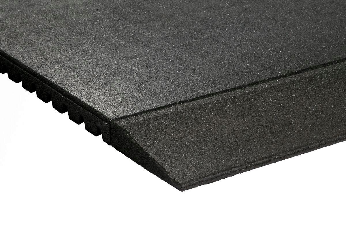 Granuflex Rampe Til Gummiflise 1000 x 200 x 30 mm Black